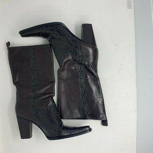 Antonio Melani Women's Tooled Leather Boots 9 US